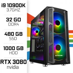 PC Gamer UltraPC i9 Overclock GEN10-IV 10900K/1TB+480SSD/32GB/RTX3080 PC Gamer Avancé UltraPC, Ultra Pc Gamer Maroc