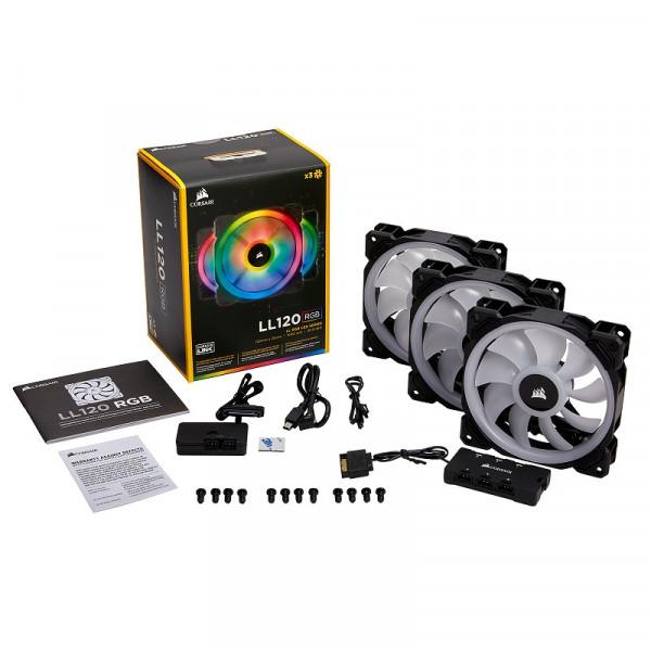 Corsair LL Series LL120 RGB Triple Pack Noir Refroidissement Corsair, Ultra Pc Gamer Maroc