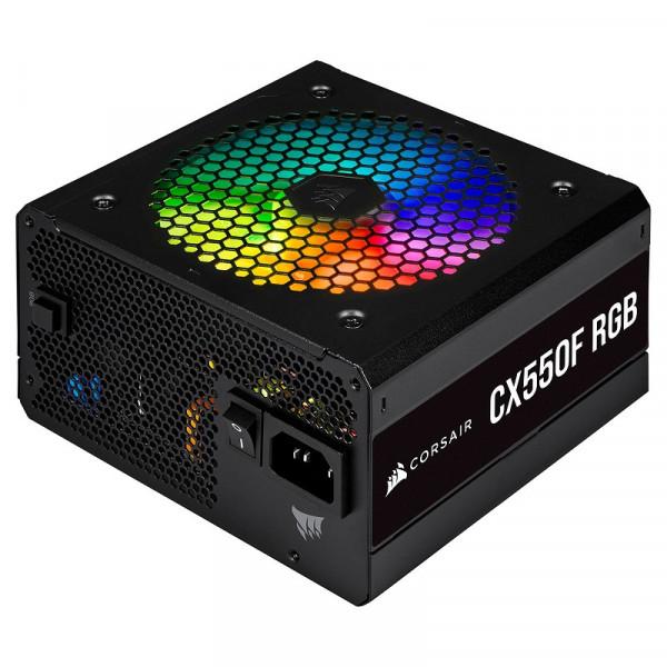 Corsair CX550F RGB 80PLUS Bronze (Noir) Alimentations PC Corsair, Ultra Pc Gamer Maroc