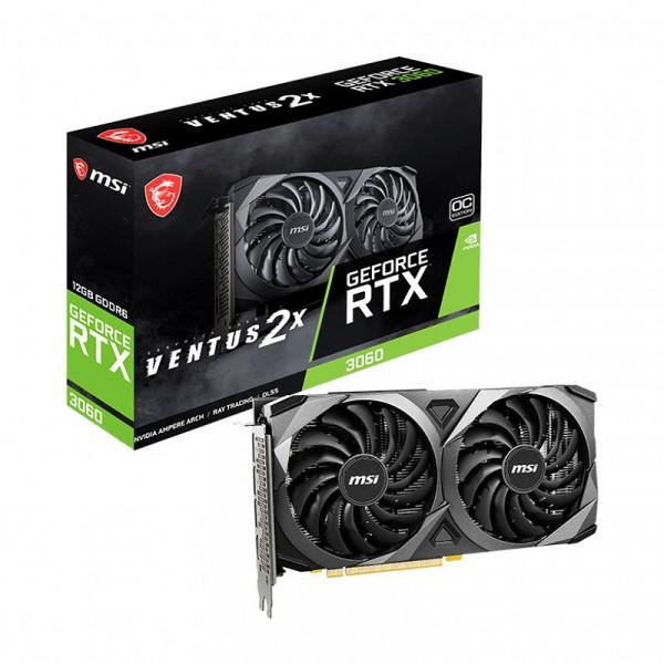 MSI GeForce RTX 3060 VENTUS 2X OC 12GB GDDR6 Cartes graphiques MSI, Ultra Pc Gamer Maroc