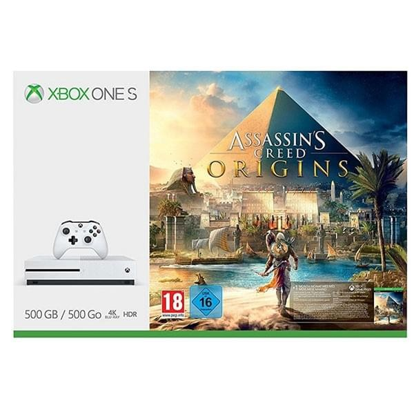 Microsoft Xbox One S 500GB + Assassin's Creed : Origins Univers Xbox ONE Microsoft, Ultra Pc Gamer Maroc
