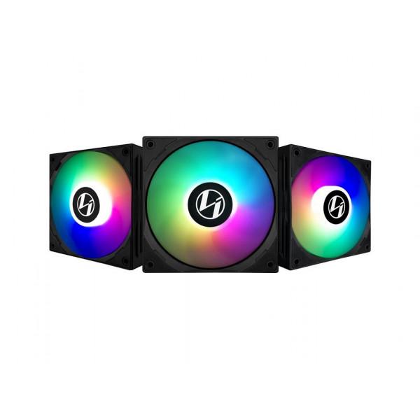 Lian Li ST120 ARGB PWM (Triple Pack) Noir Ventilateurs boîtier Lian Li, Ultra Pc Gamer Maroc