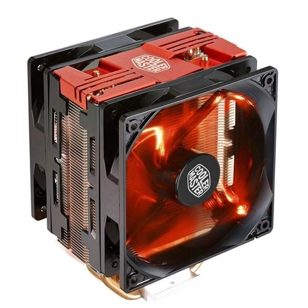 Cooler Master Hyper 212 LED Turbo Red Refroidissement Cooler Master, Ultra Pc Gamer Maroc