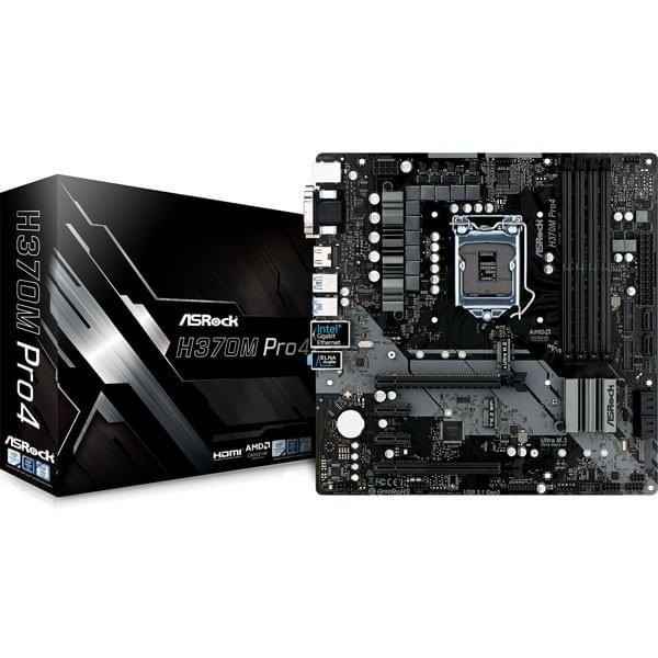 Asrock H370M Pro4 Composants ASRock, Ultra Pc Gamer Maroc