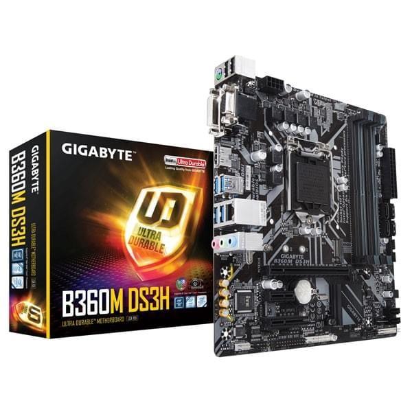 Gigabyte B360M DS3H Cartes mères Gigabyte, Ultra Pc Gamer Maroc