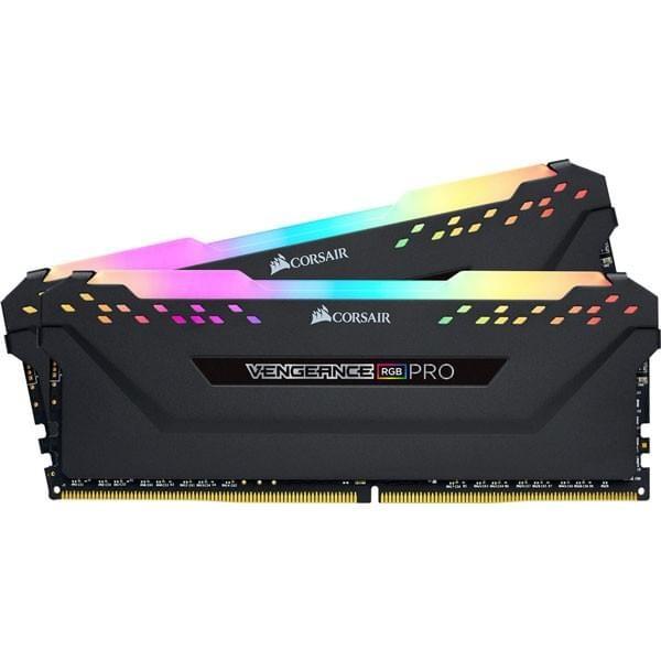 Corsair Vengeance RGB PRO Series Noir 16Go (2x 8Go) DDR4 3000MHz CL15 Mémoire vive PC Corsair, Ultra Pc Gamer Maroc