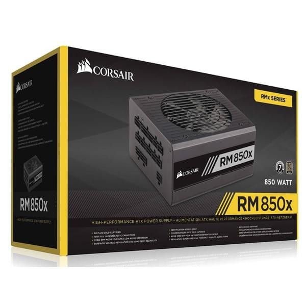 Corsair RM850x 80PLUS Gold 850W Alimentations PC Corsair, Ultra Pc Gamer Maroc