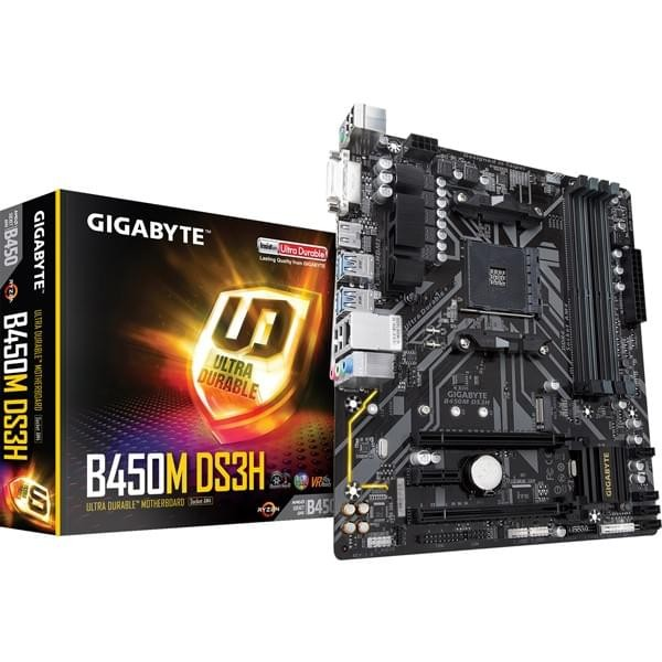 Gigabyte B450M DS3H Cartes mères Gigabyte, Ultra Pc Gamer Maroc