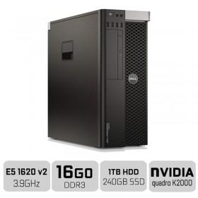 Dell Precision T3610 Workstation XEON E5-1620V2 + 16GB + SSD 250GB + HDD 1TB + QUADRO K2000 PC Professionnels Dell, Ultra Pc ...