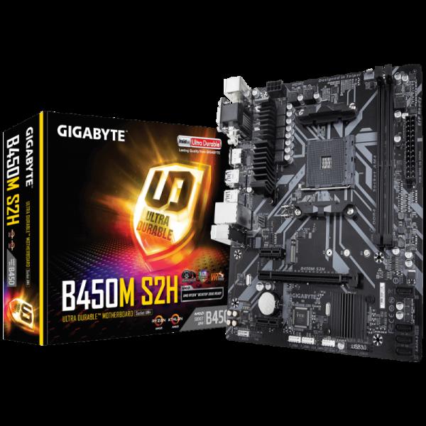 Gigabyte B450M S2H Cartes mères Gigabyte, Ultra Pc Gamer Maroc