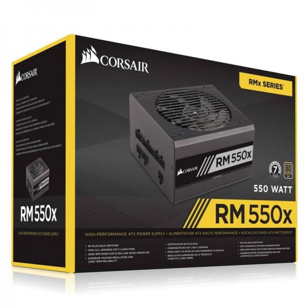 Corsair RM550x 80PLUS Gold 550W Alimentations PC Corsair, Ultra Pc Gamer Maroc