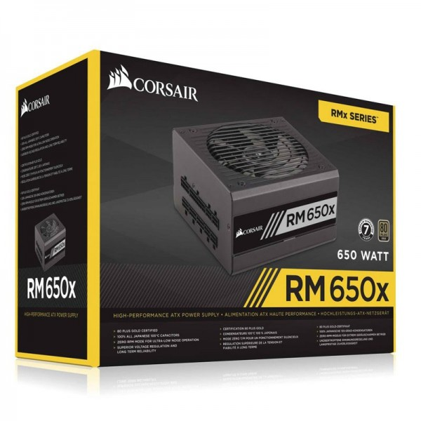 Corsair RM650x 80PLUS Gold 650W Alimentations PC Corsair, Ultra Pc Gamer Maroc