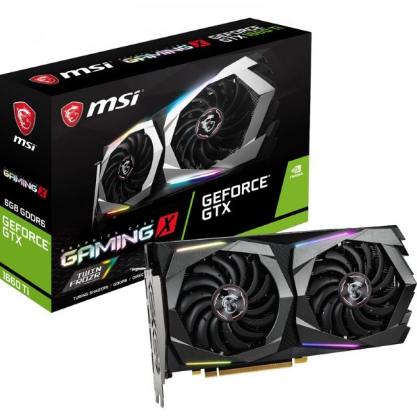 MSI GeForce GTX 1660 Ti GAMING X 6GB GDDR6 Cartes graphiques MSI, Ultra Pc Gamer Maroc