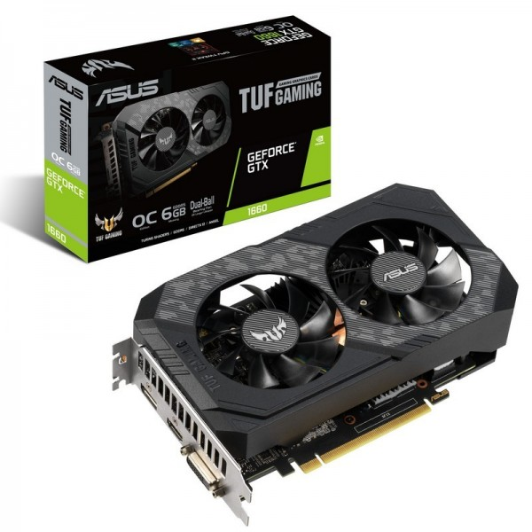 ASUS GeForce GTX 1660 TUF GAMING OC 6GB GDDR5 Cartes graphiques ASUS, Ultra Pc Gamer Maroc