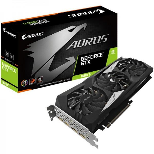 Gigabyte GeForce GTX 1660 Ti AORUS 6GB GDDR6 Cartes graphiques Gigabyte, Ultra Pc Gamer Maroc