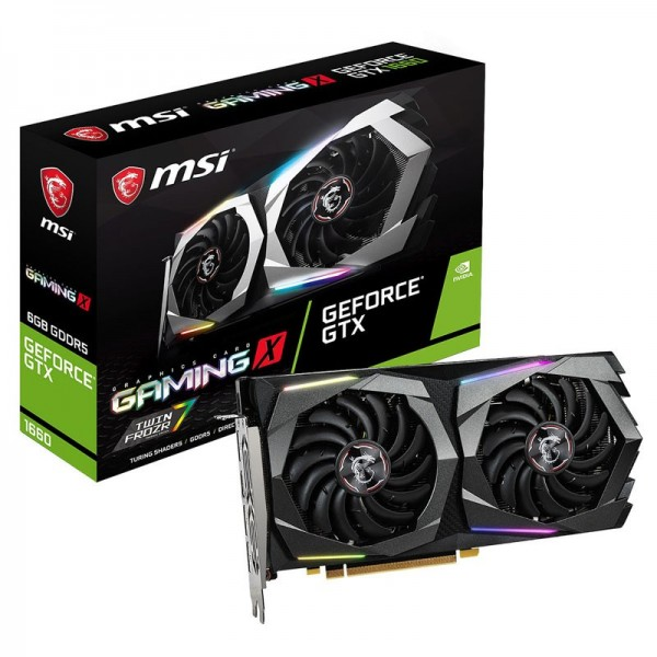 MSI GeForce GTX 1660 GAMING X 6GB GDDR5 Cartes graphiques MSI, Ultra Pc Gamer Maroc