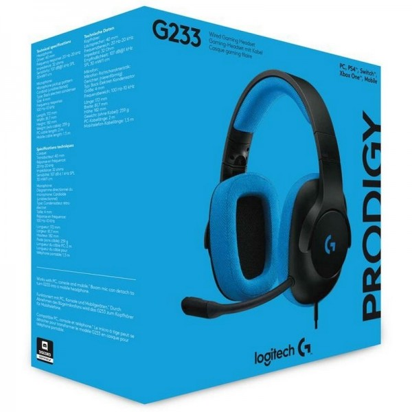 Logitech G233 Prodigy Wired Gaming Headset Casques Logitech, Ultra Pc Gamer Maroc