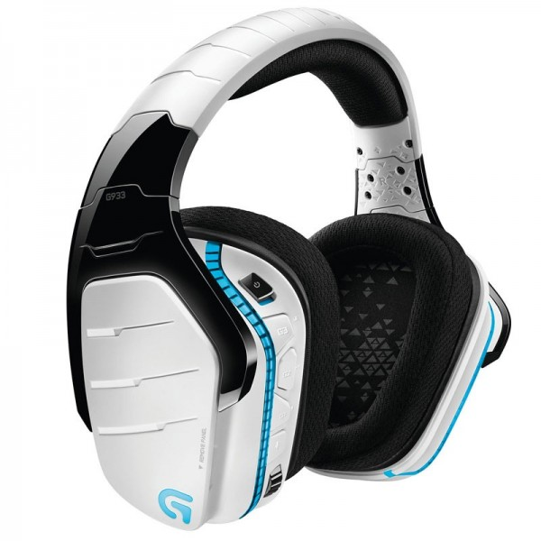 Logitech G933 Artemis Spectrum RGB Wireless 7.1 Surround Gaming Headset (Blanc) Casques Logitech, Ultra Pc Gamer Maroc