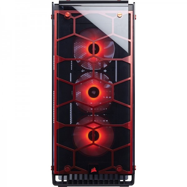 Corsair Crystal 570X Red RGB Boitiers PC Corsair, Ultra Pc Gamer Maroc